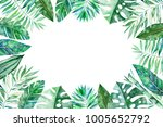 watercolor frame border.texture ... | Shutterstock . vector #1005652792