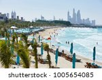 view on jumeirah beach with in... | Shutterstock . vector #1005654085
