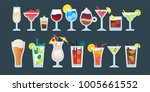 alcoholic cocktail beverage... | Shutterstock .eps vector #1005661552