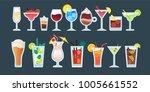 alcoholic cocktail beverage... | Shutterstock .eps vector #1005661552