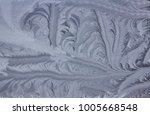 frosty natural pattern on... | Shutterstock . vector #1005668548