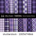 ultra violet set tartan... | Shutterstock .eps vector #1005674866