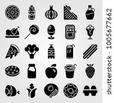 food and drinks icon set vector.... | Shutterstock .eps vector #1005677662