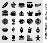 food and drinks icon set vector.... | Shutterstock .eps vector #1005679846