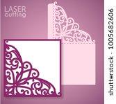 die laser cut wedding card... | Shutterstock .eps vector #1005682606