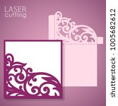 die laser cut wedding card... | Shutterstock .eps vector #1005682612