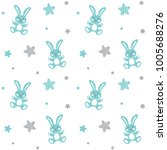 seamless baby pattern with... | Shutterstock .eps vector #1005688276