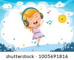 vector illustration of kid... | Shutterstock .eps vector #1005691816