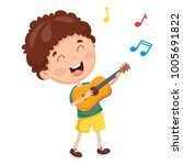 vector illustration of kids... | Shutterstock .eps vector #1005691822
