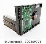 desktop pc hard disk drives | Shutterstock . vector #100569775