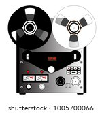 a typical reel to reel quarter... | Shutterstock .eps vector #1005700066