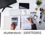 high angle view of a...   Shutterstock . vector #1005702832