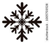 snowflake icon on a white... | Shutterstock .eps vector #1005703528