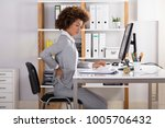 young businesswoman suffering... | Shutterstock . vector #1005706432