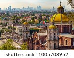 mexico. basilica of our lady of ... | Shutterstock . vector #1005708952