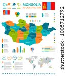 mongolia infographic map and... | Shutterstock .eps vector #1005712792