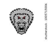 gorilla mascot vector head logo ...   Shutterstock .eps vector #1005715006