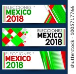 elecciones mexico 2018  mexico... | Shutterstock .eps vector #1005717766