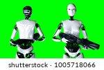 futuristic humanoid female... | Shutterstock . vector #1005718066