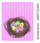 easter card in pastel shades.... | Shutterstock .eps vector #1005722485
