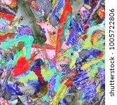 creative watercolor pattern....   Shutterstock . vector #1005722806