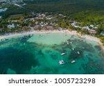 akumal bay caribbean beach in... | Shutterstock . vector #1005723298