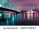 old town of riga and river... | Shutterstock . vector #1005725812