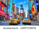 new york city  usa   december... | Shutterstock . vector #1005725878