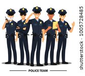 police officers team   vector... | Shutterstock .eps vector #1005728485