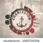 circle with cargo theme... | Shutterstock . vector #1005735556