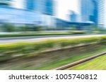 blur field near modern office... | Shutterstock . vector #1005740812