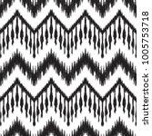 ikat seamless pattern. vector... | Shutterstock .eps vector #1005753718