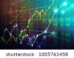 stock market or forex trading... | Shutterstock . vector #1005761458