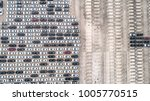 aerial view of car parking top...   Shutterstock . vector #1005770515