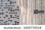 aerial view of car parking top...   Shutterstock . vector #1005770518