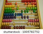 abacus in different colors on...   Shutterstock . vector #1005782752