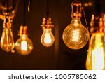 close up many yellow lamp in... | Shutterstock . vector #1005785062