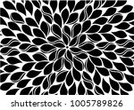 abstract black floral... | Shutterstock .eps vector #1005789826