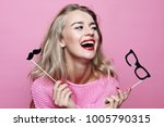lifestyle and people concept ... | Shutterstock . vector #1005790315