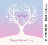 happy valentines day card with... | Shutterstock .eps vector #1005792112