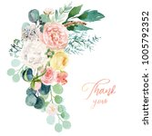 watercolor floral illustration  ... | Shutterstock . vector #1005792352