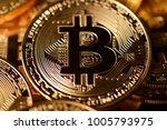 bitcoin cryptocurrency digital... | Shutterstock . vector #1005793975