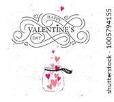 happy valentines day typography ... | Shutterstock .eps vector #1005794155