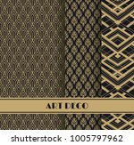 set of art deco seamless... | Shutterstock .eps vector #1005797962