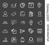 business icon set with check