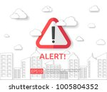 attention exclamation warning...   Shutterstock .eps vector #1005804352