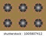 snowflakes pattern. flat design ... | Shutterstock . vector #1005807412