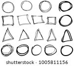 doodle vector circles ... | Shutterstock .eps vector #1005811156