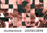 bright abstract mosaic... | Shutterstock . vector #1005813898