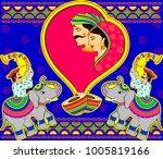 design of indian marriage... | Shutterstock .eps vector #1005819166